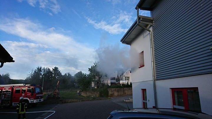 Rauchentwicklung bei der Feuerwehr. Eine dramati…