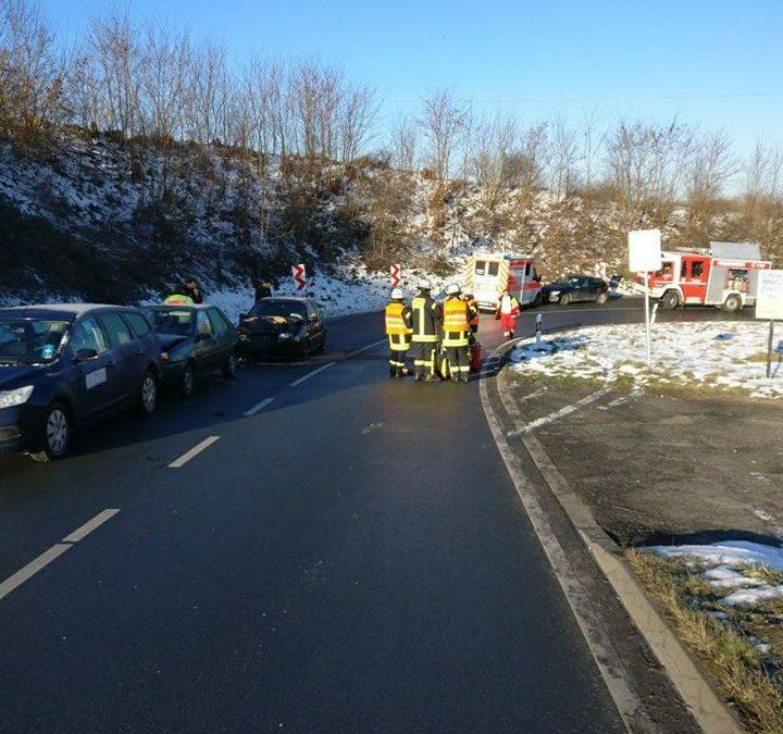 Bei einem Verkehrsunfall am Ortseingang Grävenwi…