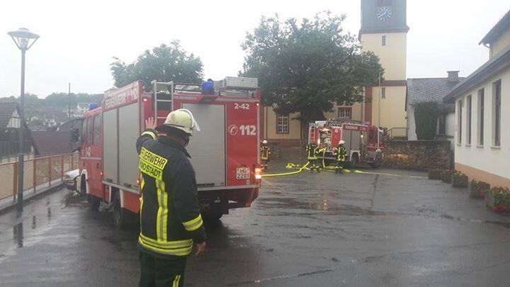 Dachstuhlbrand im Bürgerhaus…
