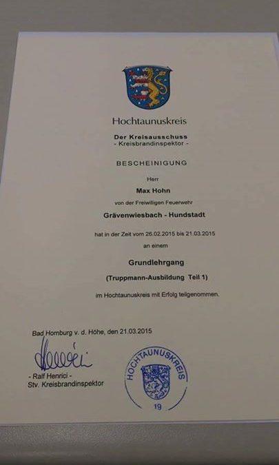 Herzlichen Glückwunsch Max !…