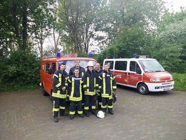 Heute, Feuerwehr Leistungsübung in Usingen….