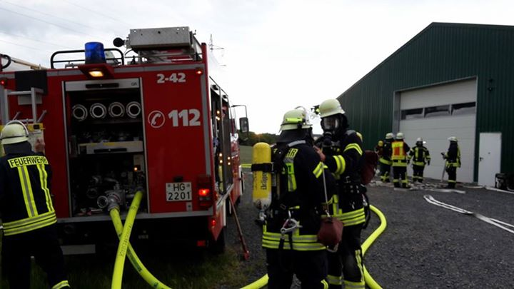 Heute gemeinsame Brandschutz-Übung mit den Feuer…
