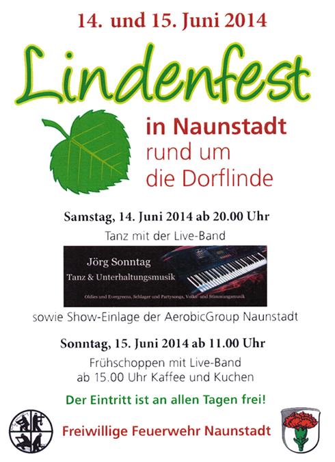 Offizieller Flyer für unser Lindenfest in Naunst…