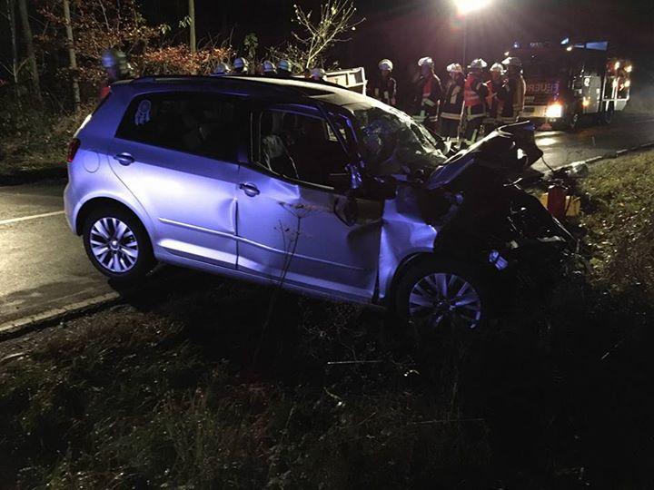 Schwerer Verkehrsunfall auf der L3063 Richtung W…