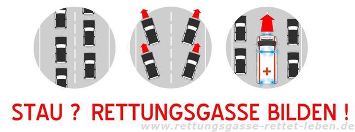 Wie die #Rettungsgasse zu bilden ist und wie auc…