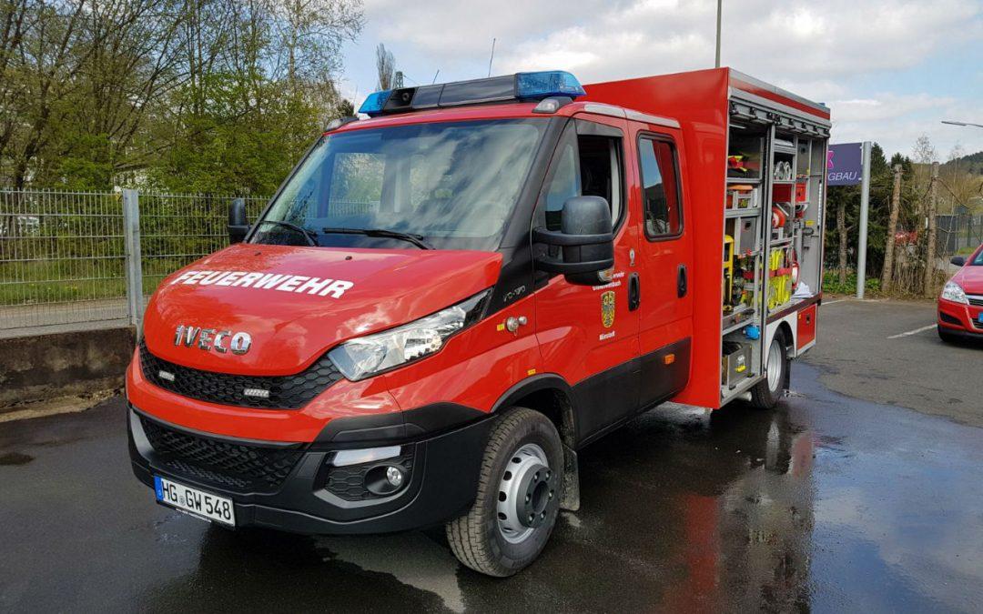 Abholung TSF-W Feuerwehr Mönstadt