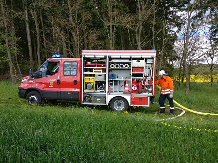 Großübung der Feuerwehren der Gemeinde Grävenwie…