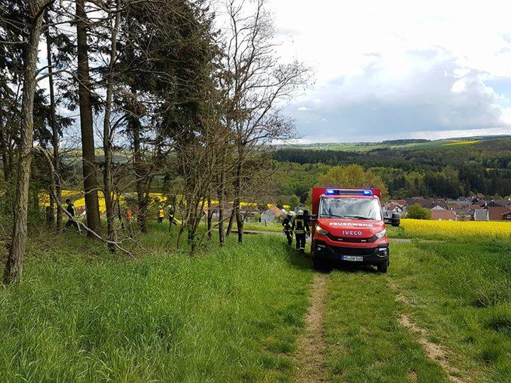 Waldbrandübung der Feuerwehren der Gemeinde Gräv…
