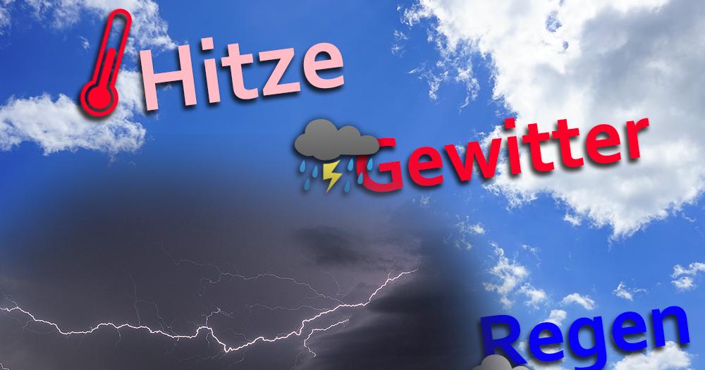 Kurzzeit-Hitze droht mit schweren Unwettern!