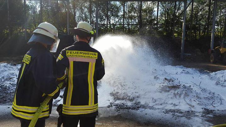Brand am Biomassehof. Einsatzberichte 38-40 mit …
