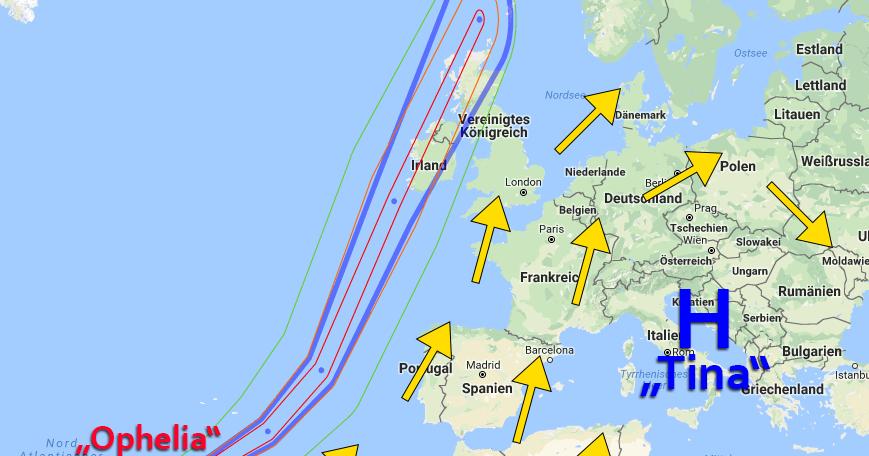 Was uns zu Gute kommt, bringt Britischen Inseln Orkan!