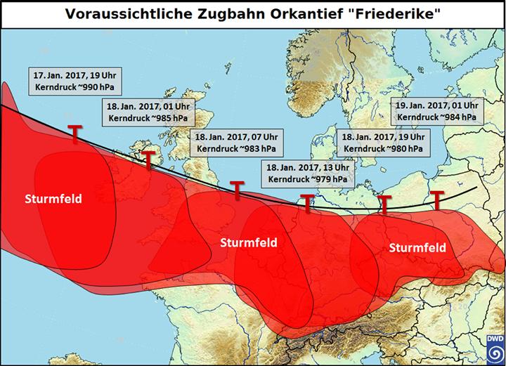 """Seid vorsichtig morgen!!!Orkantief """"Friederike"""" …"""