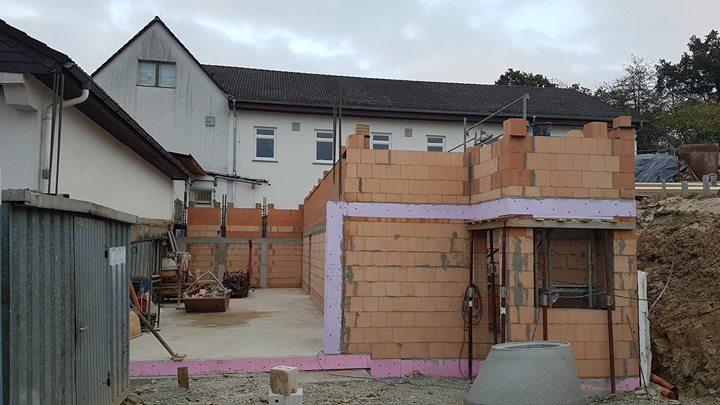 Baufortschritt im Oktober 2018