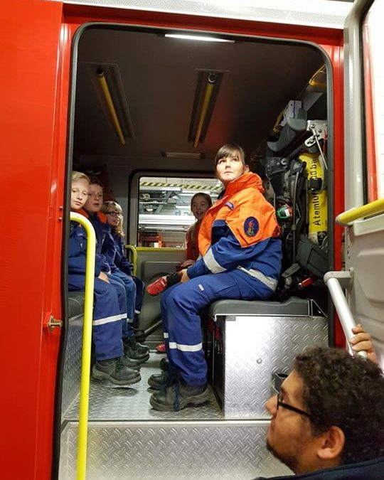 Gestern besuchten wir die Feuerwehr Neu-Anspach….