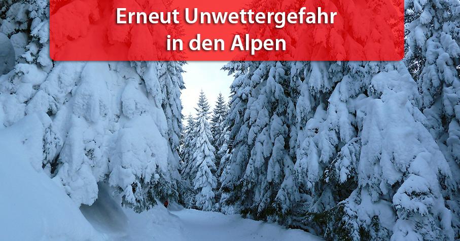 Weitere Dauerschneefälle in den Alpen