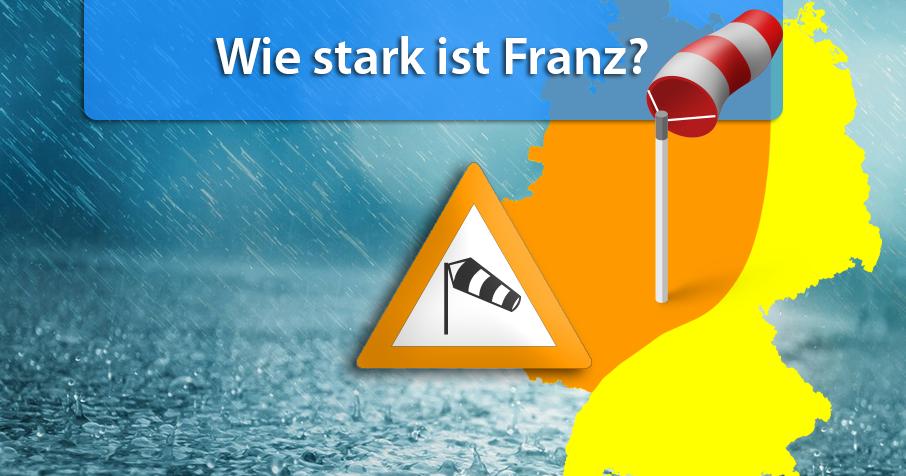 Sturm Franz: Was erwartet uns am Mittwoch?