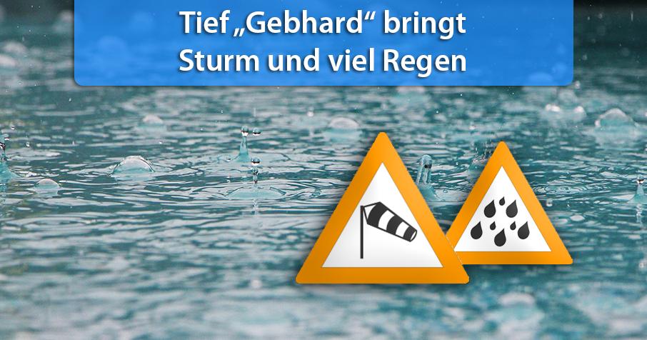 """Nach Franz: Neues Sturmtief heißt """"Gebhard"""""""