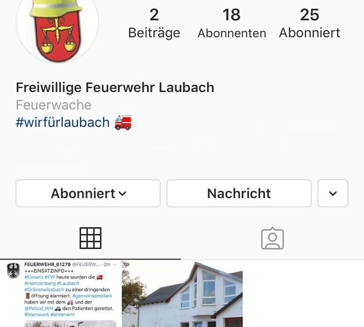 ++ Wir sind auf Instagram ++ Folgt uns @ ffwlau…