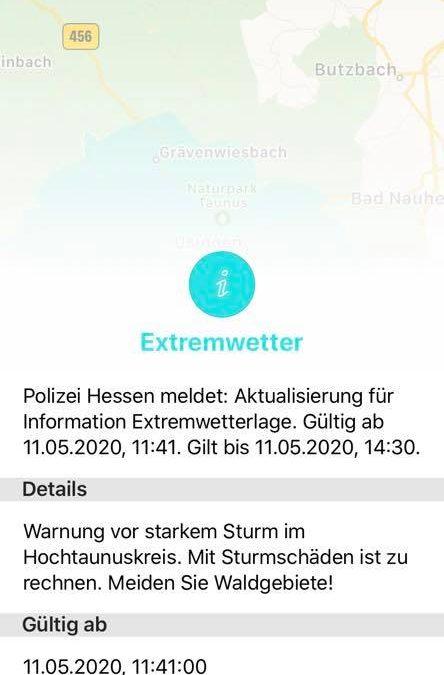 #Wetterwarnungen für 11.05.2020#…