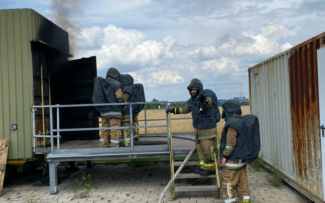 Zwei unserer Atemschutzgeräteträger hatten heute…